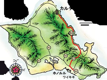 ポリネシア・カルチャー・センターのマップ